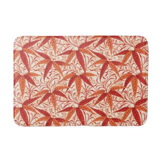 William Morris Bamboo Print, Mandarin Orange Bath Mat