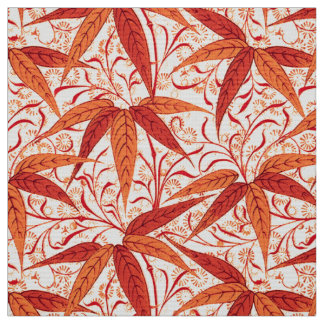 William Morris Bamboo Print, Mandarin Orange Fabric