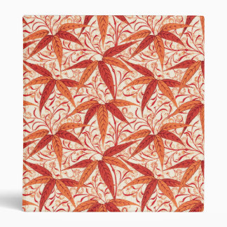 William Morris Bamboo Print, Mandarin Orange Vinyl Binders
