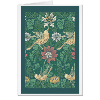 William Morris 'Bird and Anemone Chintz' Card