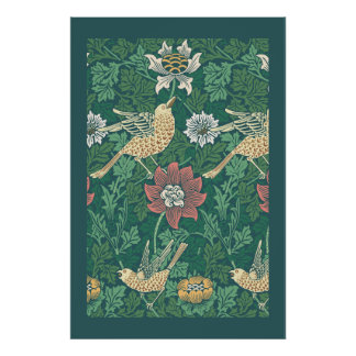 William Morris 'Bird and Anemone Chintz' Poster