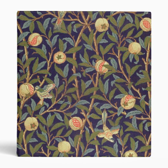 William Morris Bird And Pomegranate Vintage Art Binders