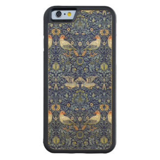 William Morris Bird Pattern Carved Maple iPhone 6 Bumper Case