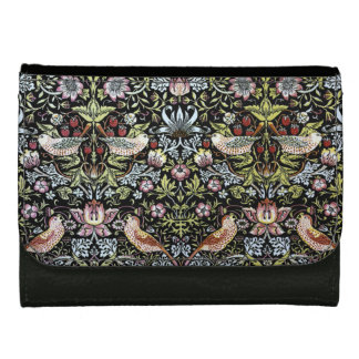 William Morris birds and flowers 2 vintage pattern Leather Wallet