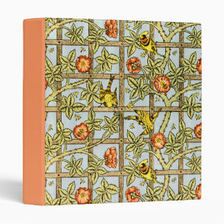 William Morris birds and flowers pattern Binder