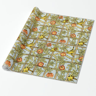 William Morris birds and flowers vintage pattern Wrapping Paper