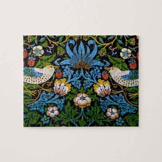 William Morris Birds Flowers Strawberries Fine Jigsaw Puzzle