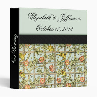 William Morris Birds & Flowers Wedding Binder