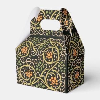 William Morris Black Floral Art Print Design Favor Box