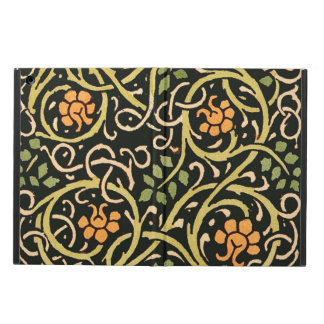 William Morris Black Floral Art Print Design iPad Air Cover