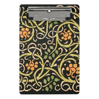 William Morris Black Floral Art Print Design Mini Clipboard