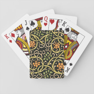William Morris Black Floral Art Print Design Poker Deck