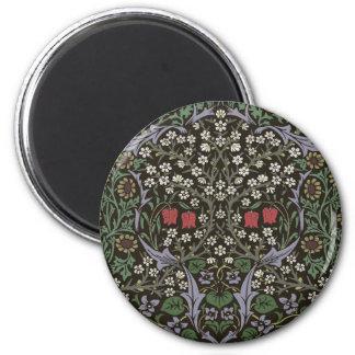 William Morris Blackthorn Tapestry Art Print 2 Inch Round Magnet