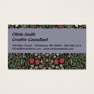 William Morris Blackthorn Tapestry Art Print Business Card