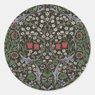William Morris Blackthorn Tapestry Art Print Classic Round Sticker