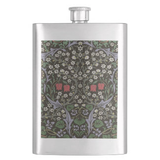 William Morris Blackthorn Tapestry Art Print Hip Flask