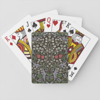 William Morris Blackthorn Tapestry Art Print Playing Cards