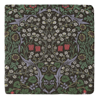 William Morris Blackthorn Tapestry Art Print Trivet