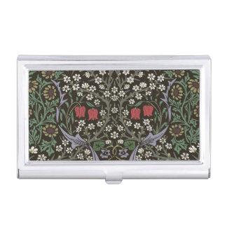 William Morris Blackthorn Tapestry Vintage Floral Business Card Holder