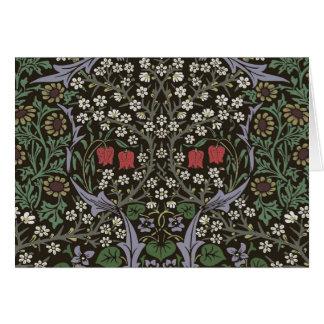 William Morris Blackthorn Tapestry Vintage Floral Card