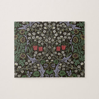 William Morris Blackthorn Tapestry Vintage Floral Puzzle