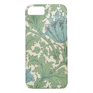 William Morris Blue Anemone Design Floral Vintage iPhone 8/7 Case