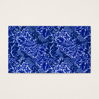 William Morris Blue Leaves Reception Seating Card