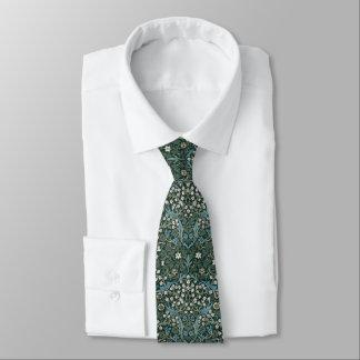 William Morris Blue White & Green Floral Tie