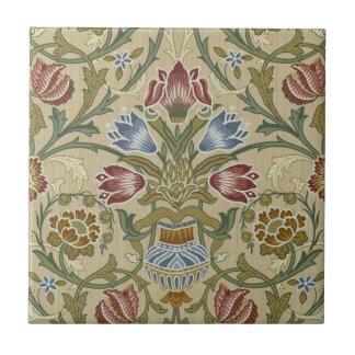 William Morris Brocade Floral Pattern Ceramic Tile