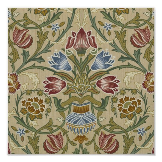 William Morris Brocade Floral Pattern Poster