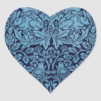 William Morris BrotherRabbit Heart Sticker