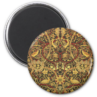 William Morris Bullerswood Tapestry Floral Art 2 Inch Round Magnet