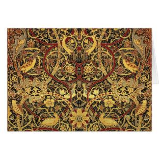 William Morris Bullerswood Tapestry Floral Art Card