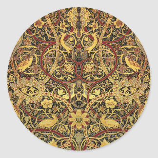 William Morris Bullerswood Tapestry Floral Art Classic Round Sticker