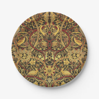 William Morris Bullerswood Tapestry Floral Art Paper Plate