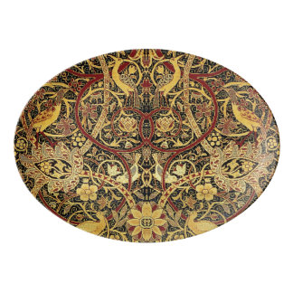 William Morris Bullerswood Tapestry Floral Art Porcelain Serving Platter