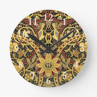 William Morris Bullerswood Tapestry Floral Art Round Clock