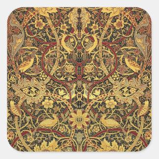 William Morris Bullerswood Tapestry Floral Art Square Sticker