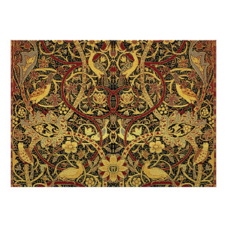 William Morris Bullerswood Tapestry Floral Poster
