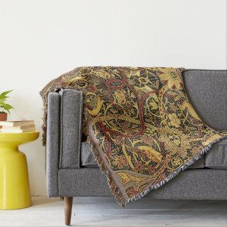 William Morris Bullerswood Tapestry Floral Throw Blanket