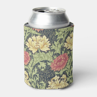 William Morris Chrysanthemum Vintage Floral Art Can Cooler
