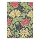 William Morris Chrysanthemum Vintage Floral Art Card