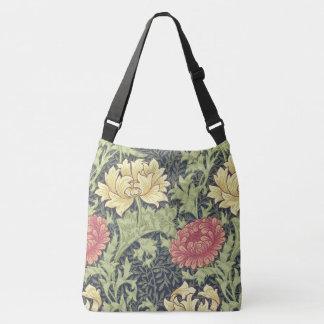 William Morris Chrysanthemum Vintage Floral Art Crossbody Bag