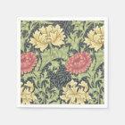 William Morris Chrysanthemum Vintage Floral Art Paper Napkin