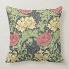 William Morris Chrysanthemum Vintage Floral Art Throw Pillow