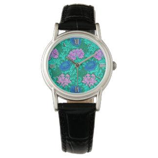 William Morris Chrysanthemums, Aqua and Violet Watch