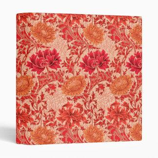 William Morris Chrysanthemums, Coral Orange Binders