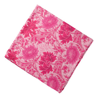 William Morris Chrysanthemums, Fuchsia Pink Bandana