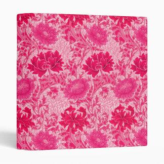 William Morris Chrysanthemums, Fuchsia Pink Binder