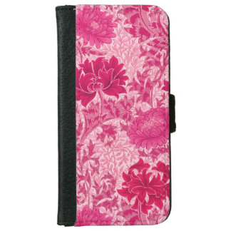William Morris Chrysanthemums, Fuchsia Pink iPhone 6 Wallet Case